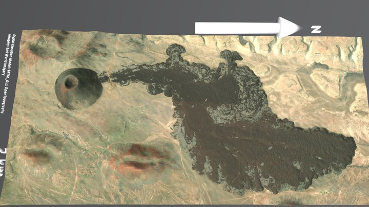 SP Crater, Coconino County, AZ, USA 3D Model