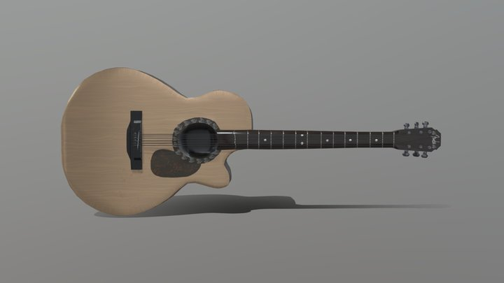 Akustik Gitar 3D Model