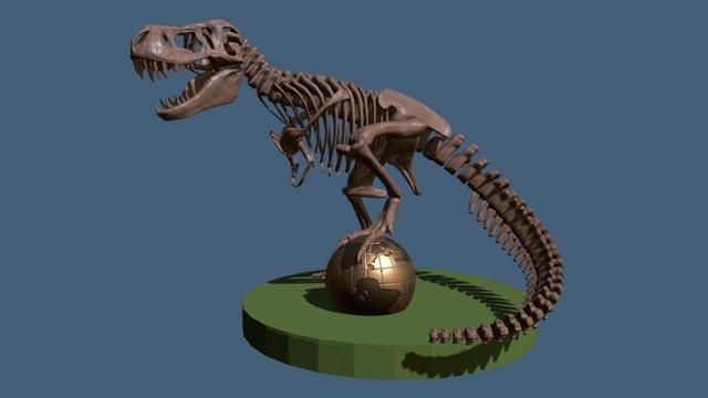 Tyrannosaurus Rex Skeleton 3D Model