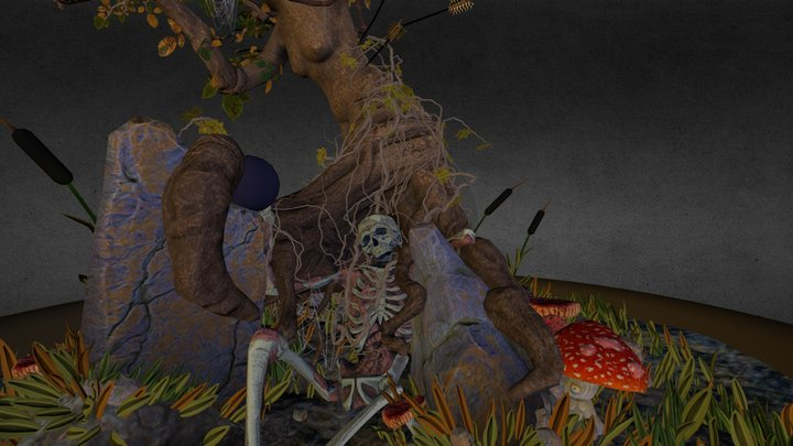 Tree Scene 3D Model