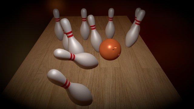 Bowling Scene Exercise 3D Model