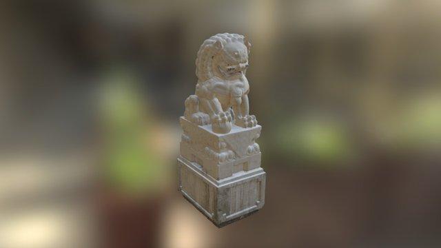 Chinatown Lion Statue 3D Model