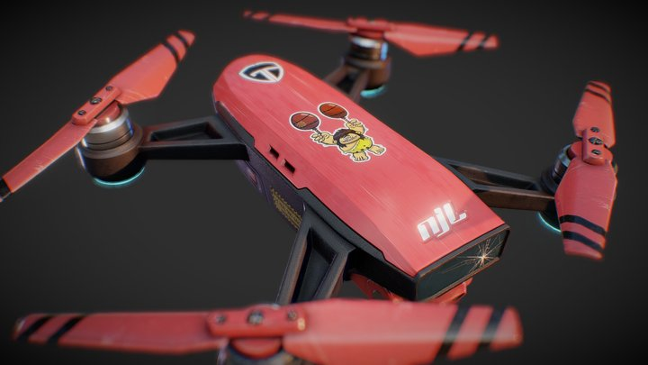 Drone - Unmanned Aerial Vehicle 3D Model