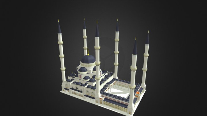 Istanbul New Grand Mosque 3D Model