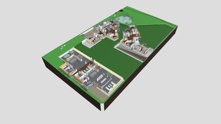 Whitewebbs Farm - High End Residential Buildings 3D Model