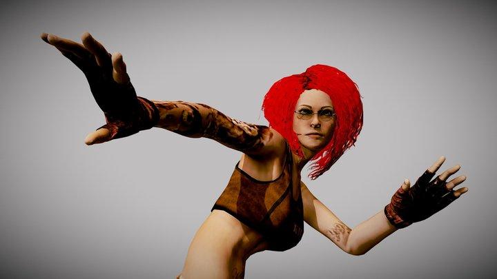 Lulu Red dance 3D Model