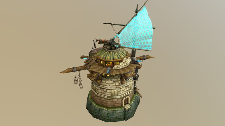 Pirate Tower 3D Model