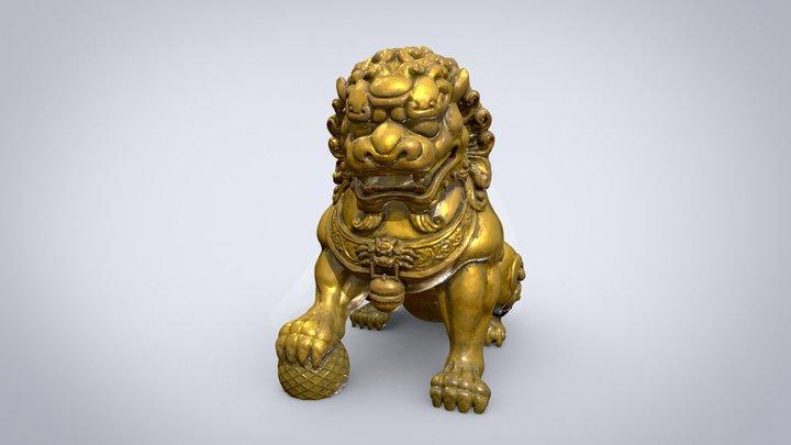 Chinese Lion sculpture 3D Model