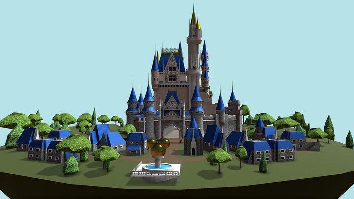 Disney Cinderella Castle (Joseph St.Arnault) 3D Model