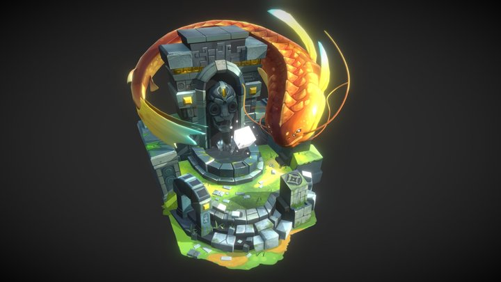 The Lost Temple 3D Model