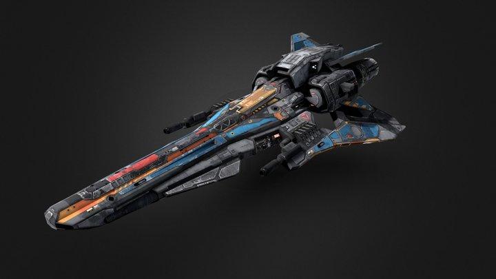 SF Light- Fighter X6 3D Model