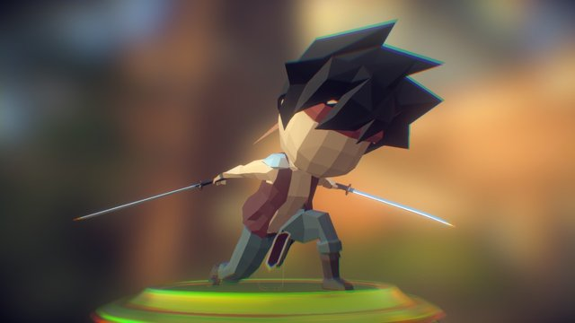 Low Poly Phyrrus alternative pose 3D Model