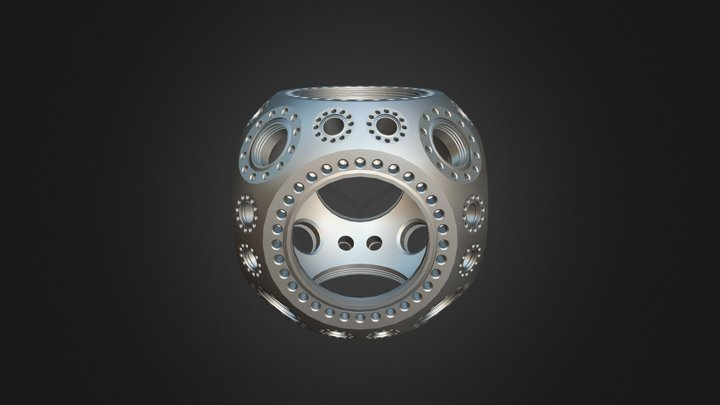 MCF600- Sph Cube-F6C8A24 (53-110810-A) V1 3D Model