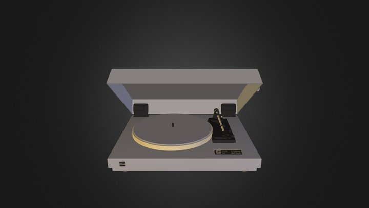 Tourne Disque2 3D Model