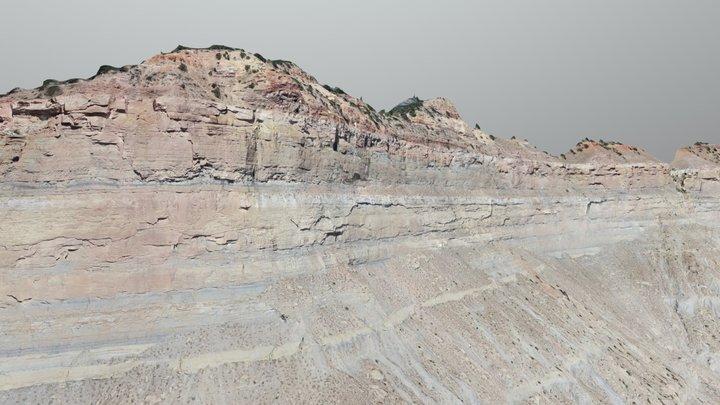 Helper Utah Sequence Stratigraphy SfM sUAS Model 3D Model