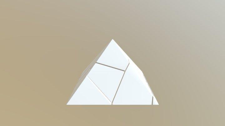 Voronoi Fracture Pyramid Puzzle 3D Model