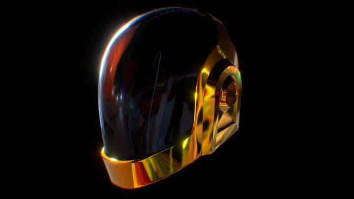 Daft Punk Guy Manuel Helmet 3D Model