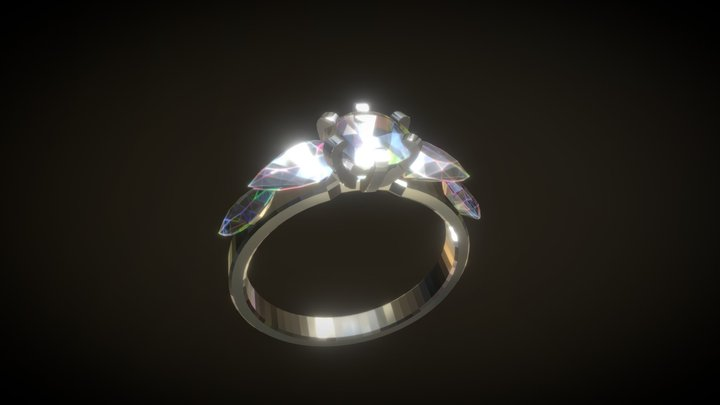 Jewelery - Ring- Diamonds 3D Model