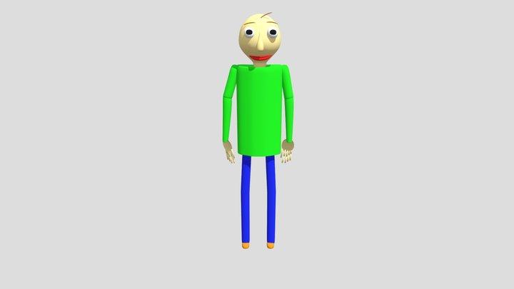 Baldi Running 3D Model