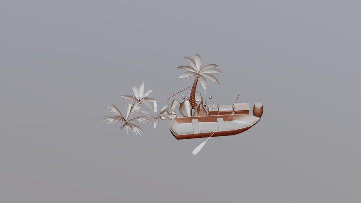 Pirates low ploly assets 3D Model