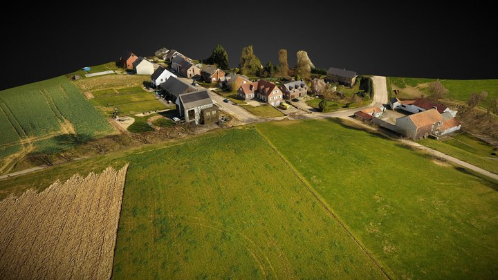 Mont-Saint Guibert - Beltest 1 - Trees Removed 3D Model