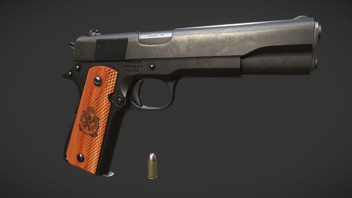 M1911 Pistol Game Ready 3D Model