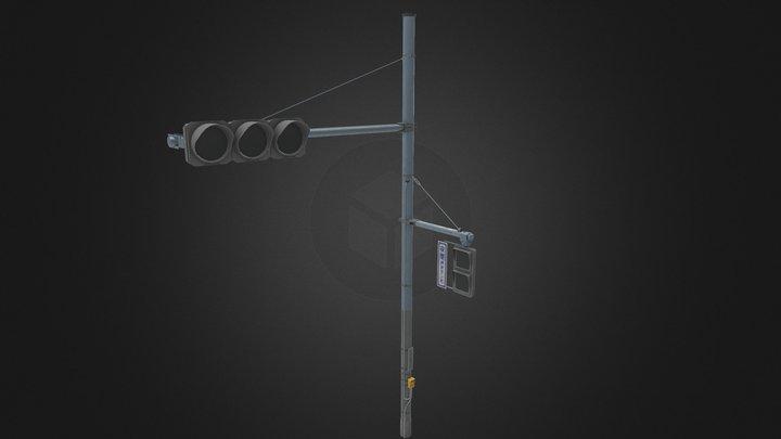 Japanese Traffic Light 3D Model