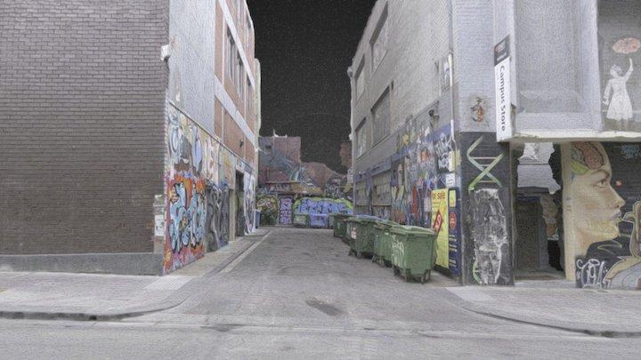 Graffiti laneway 2 - revised 3D Model