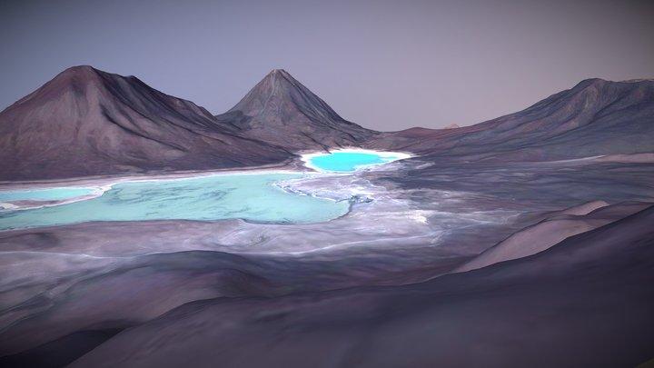 Licancabur & Laguna Verde, Chile/Bolivia 3D Model