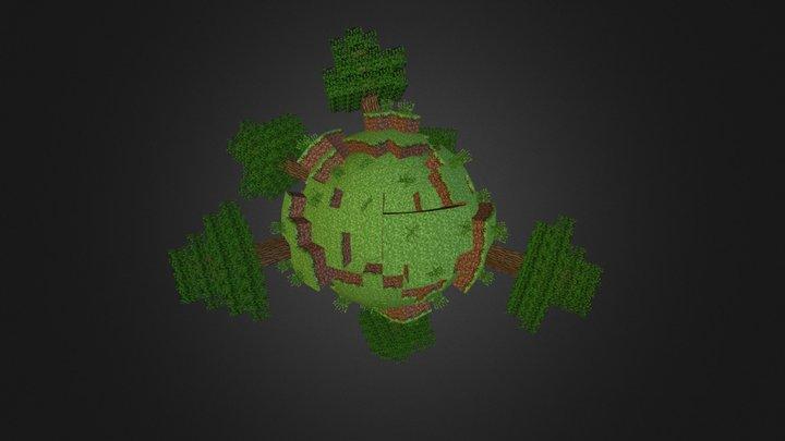 Minecraft Sphere World 1 3D Model