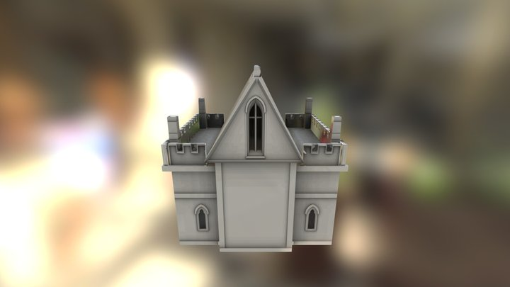 Gothic Small Low Poly 3D Model