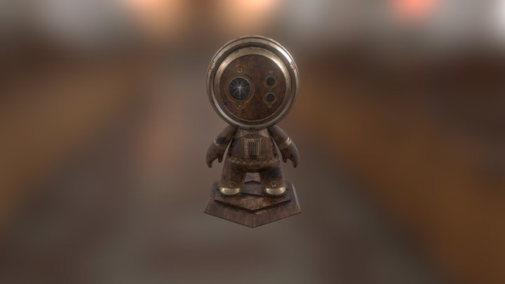 Steampunk Robot MAT 3D Model