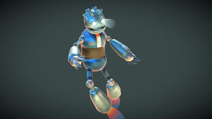 Godot Bot 3D Model