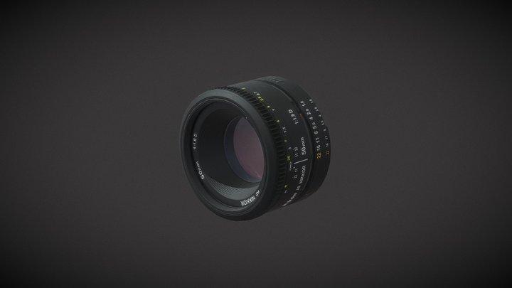 Nikkor 50mm 1.8D 3D Model