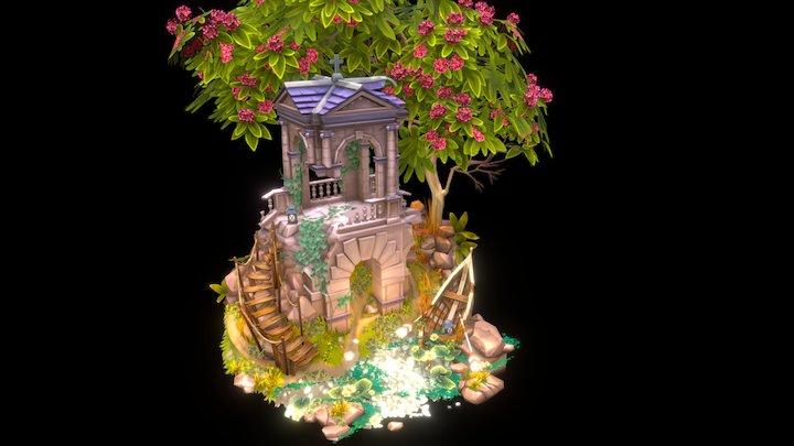 Abandoned building diorama 3D Model
