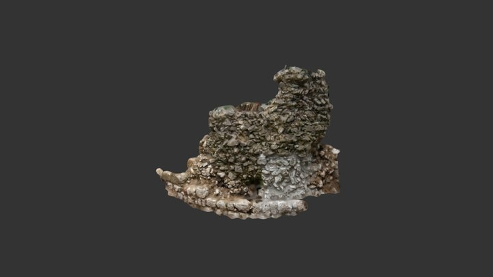 Ried Castle - Remains of keep - 2010 3D Model