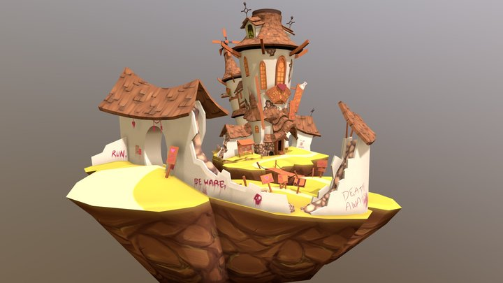 Love Witch House 3D Model