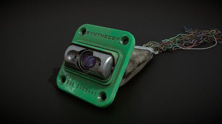 Sci-Fi Optical Sensor 3D Model