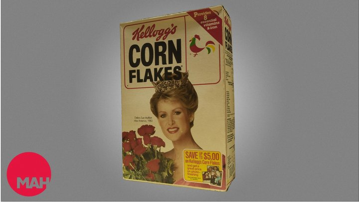 Miss America Corn Flakes Box 3D Model