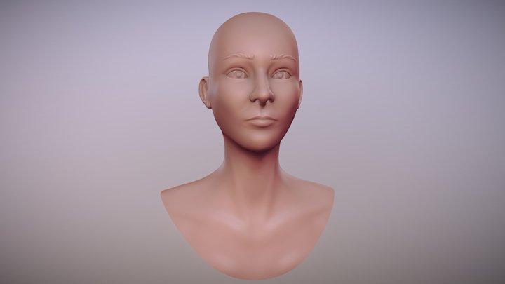 Female Bust Sculpt 3D Model