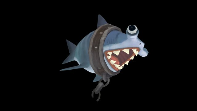 Chibi shark 3D Model
