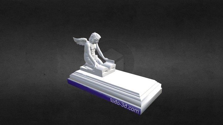 Ángel sobre un panteón 3D Model