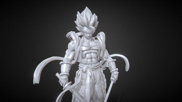 Shogun Gogeta 3D Model