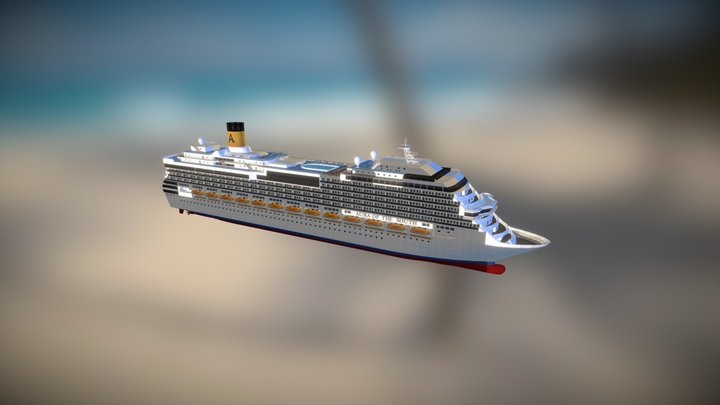 Modular Cruise Ship, The Aura of the South 3D Model