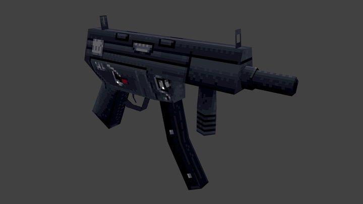 Low Poly - MP5 3D Model