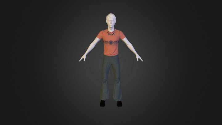 Cargo with Pink T-Shirt 3D Model