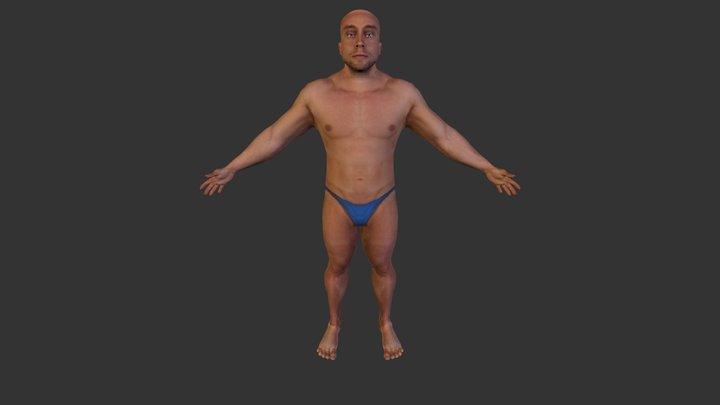 Retop_Materialized_Update02_Eyes 3D Model