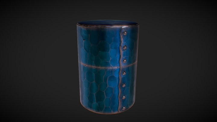 Japanese copper Tea caddy 3D Model