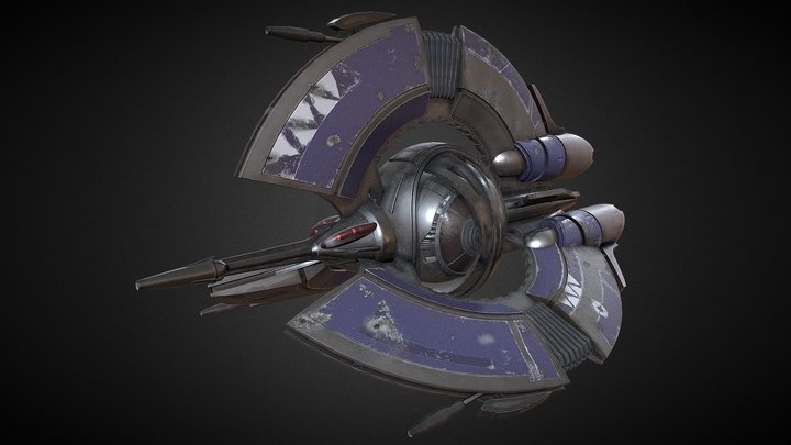 Droid Tri Fighter 3D Model