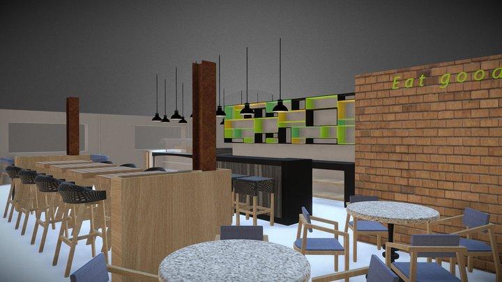 Bar-Restaurant 3D Model